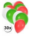 Rood wit groen pakket ballonnen
