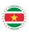 Viltjes met Surinaamse vlag opdruk