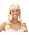 Heidi verkleed pruik blond met vlechten