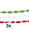 Feest slingers groen-wit-rood