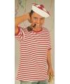 Gondelier shirt rood met wit