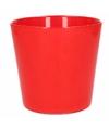Glazen bloempot rood 12 cm