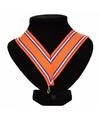 Nederlands kampioen medaille halslint oranje/rood/wit/blauw