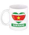 Surinaamse vlag hartje theebeker 300 ml