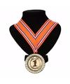 Nederlands lint nr. 1 medaille oranje/rood/wit/blauw