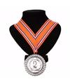 Nederlands lint nr. 2 medaille oranje/rood/wit/blauw