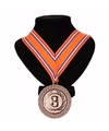 Nederlands lint nr. 3 medaille oranje/rood/wit/blauw