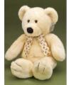 Knuffelbeer met witte strik 40 cm