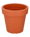 Terracotta sierpot 24 cm voor binnen of buiten