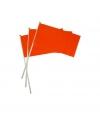 Oranje hand vlaggetjes