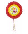 Pinatas rond happy birthday regenboog kleuren