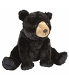 Pluche zwarte beer knuffel 30 cm