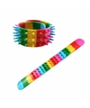 Punk armband in regenboog kleuren