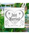 Karton tuinbord just married