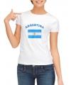 T-shirt met vlag Argentinie print voor dames