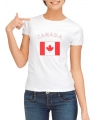 T-shirt met vlag Canadese print voor dames