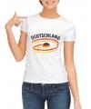Shirts met vlaggen thema Duitsland voor dames