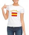T-shirt met vlag Spaanse print voor dames
