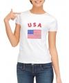T-shirt met vlag USA print voor dames