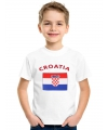 Kinder shirts met vlag van Kroatie