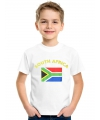 Kinder shirts met vlag van Zuid-Afrika